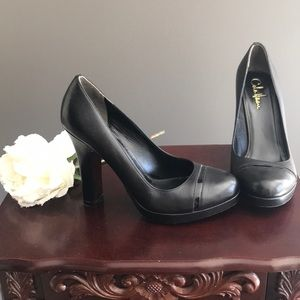 NEW Cole Haan black leather high heel size 8